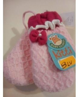 Розови детски ръкавици едно пръстче