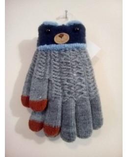 Детски ръкавици лукс сиви