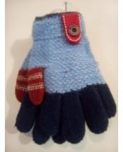 Детски ръкавици сини сини
