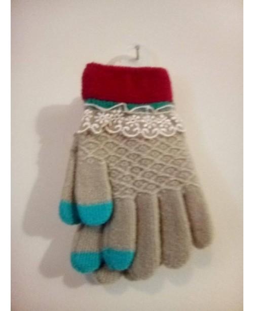 Детски бежови ръкавици