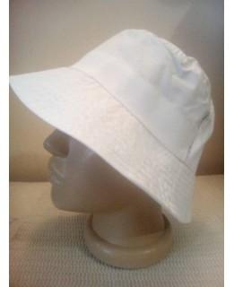 Бяла памучна шапка Идиотка М