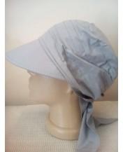 Дамска лятна кърпа с козирка Сива