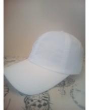 Бяла лятна шапка бейзболка
