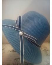 Дамска лятна капела с перла Синя