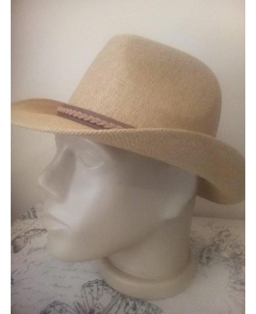 Мъжка лятна шапка с периферия Елегант Бежова