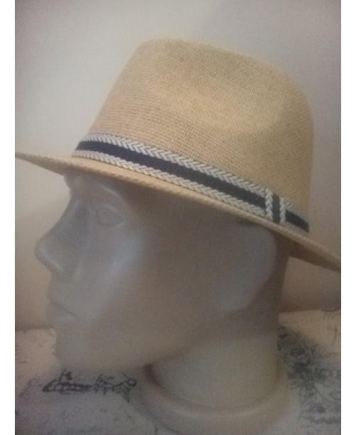 Мъжка лятна шапка Права периферия Бежова