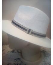 Мъжка лятна шапка Права периферия Бяла