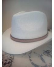 Мъжка лятна шапка с периферия Елегант Бяла
