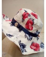 Дамска шапка от памук Флора
