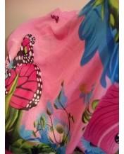 Розов летен шал Пеперуди