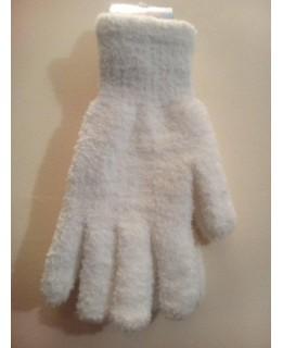 Бели плетени ръкавици
