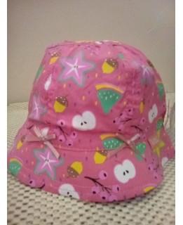 Бебешка лятна шапка 44 см Розова
