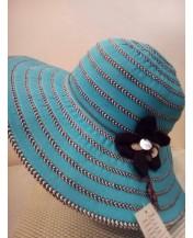Дамска шапка Синя Тюркоаз