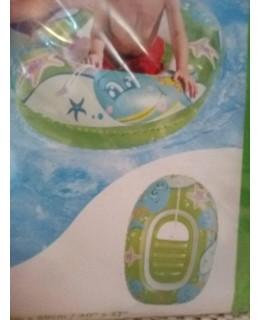 Детска надуваема лодка Зелена