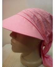 Дамска лятна кърпа с козирка Корал