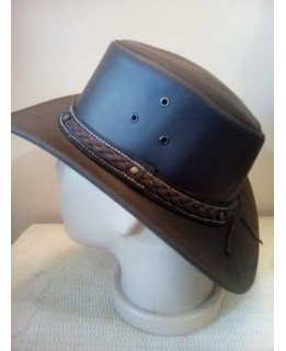 Каубойска шапка Естествена кожа Кафява