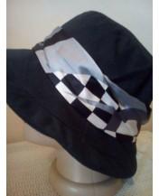 Черна шапка Стилна лента