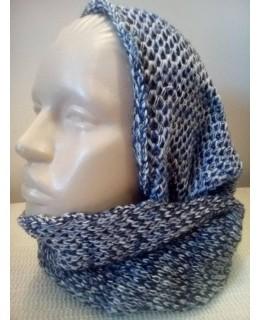Дамски кръгъл шал Цветно плетиво 1