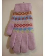 Плетени ръкавици Ангора розови