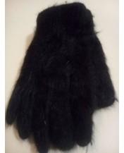 Плетени ръкавици Ангора Черни