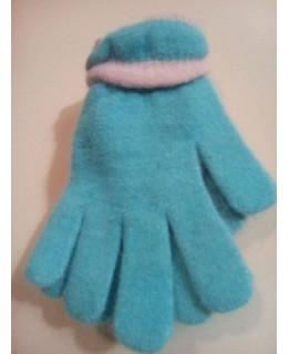 Плетени ръкавици Ангора Сини