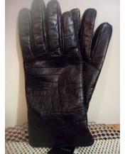 Мъжки кожени ръкавици Кроки дизайн