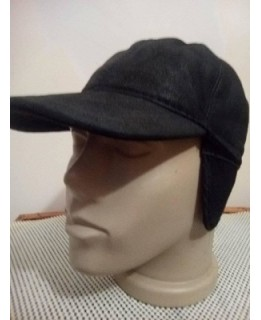 Зимна кожена шапка с козирка Затворена