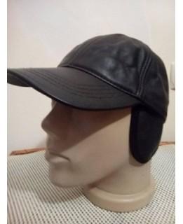 Зимна кожена шапка с козирка Затворена 2